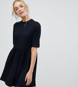 Read more about Asos design tall mini ultimate cotton smock dress - black
