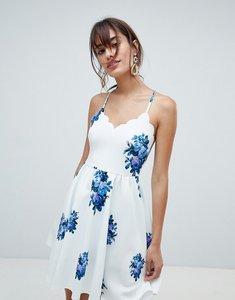 Read more about Asos design scuba scallop mini dress in floral print - print