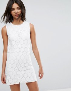 Read more about Oasis lace a-line mini dress - off white