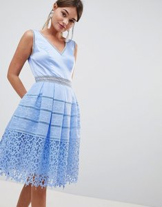 Read more about Chi chi london cutwork lace prom dress - sky blue