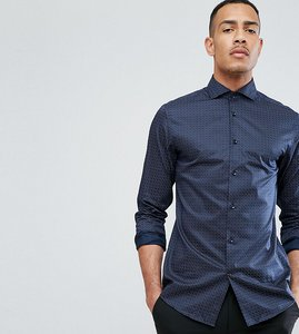 Read more about Selected homme tall regular shirt with cutaway collar - navy blazer