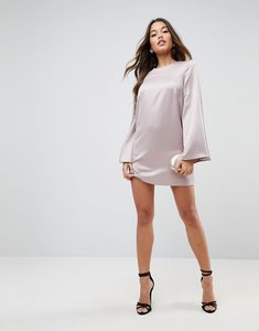 Read more about Asos extreme sleeve satin mini dress - rose gold