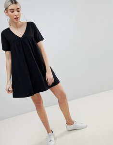 Read more about Asos design ultimate cotton smock dress - black