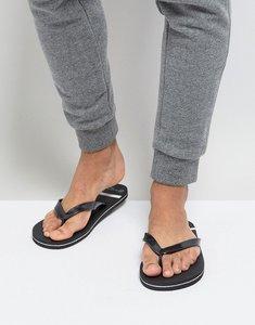 Read more about Brave soul stripe flip flops - black
