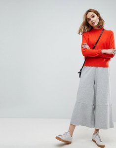 Read more about Asos wide leg joggers with raw hem - grey