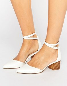 Read more about Asos official pointed heels - white