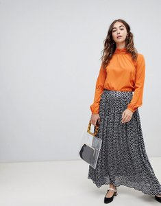 Read more about Lost ink pleated midaxi skirt in animal print - multi