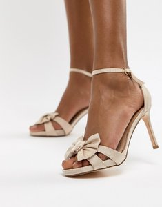 Read more about Coast bow sandal heel shoes - blush