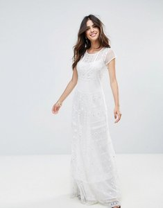 Read more about French connection coachella stitch maxi dress - summer white