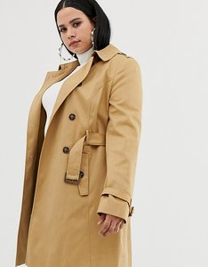 Read more about Asos design curve classic trench coat - stone