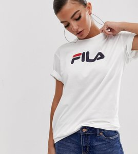 Read more about Fila oversized boyfriend t-shirt with chest logo - white