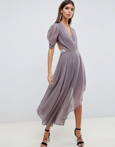 Read more about Asos design floaty soft midi dress with back pearl detail