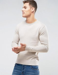 Read more about French connection lightweight crew neck jumper - beige