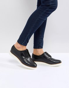 Read more about Asos marce leather flat shoes - black