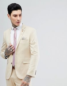Read more about Harry brown biscuit stretch skinny fit suit jacket - beige
