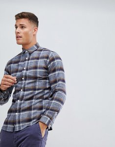 Read more about Selected homme shirt in slim fit brushed check - dark blue check