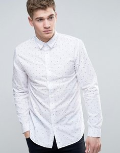 Read more about Jack jones core shirt in slim fit with all over ditsy print - white