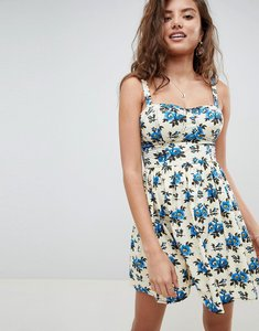 Read more about Asos design mini skater sundress in floral print - multi