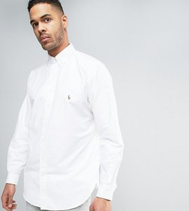 Read more about Polo ralph lauren tall oxford shirt buttondown in white - white