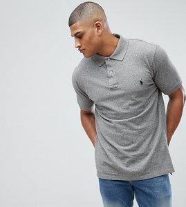 Read more about Polo ralph lauren tall polo shirt with logo in grey marl - canterbury heather