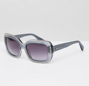 Read more about Christian lacroix square sunglasses in grey - gold