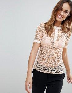 Read more about Vesper lace blouse - blush