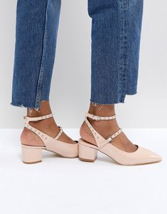 Read more about Raid kenna block heel studded shoes - nude