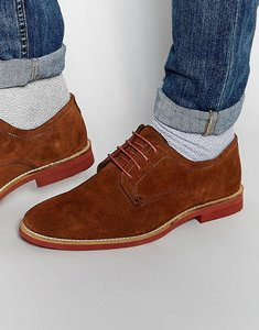 Read more about Red tape derby shoes in brown suede - brown