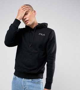 Read more about Fila black hoodie with small logo in black exclusive to asos - black