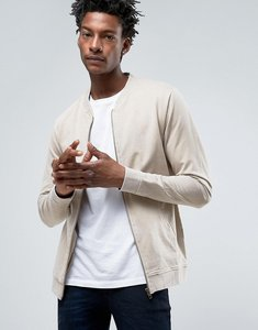 Read more about Troy bomber sweat in washed sand - beige