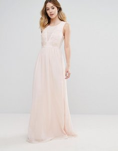 Read more about Club l bridesmaid maxi dress with rose embroidery - rose pink
