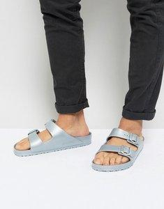Read more about Birkenstock arizona eva metallic sandals in silver - silver