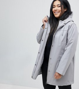 Read more about Asos curve borg raincoat - grey