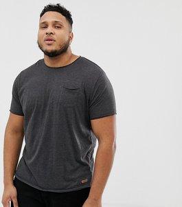 Read more about Brave soul plus basic raw edge t-shirt - grey