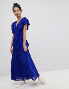 Read more about Glamorous frill maxi dress - royal blue