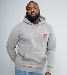 Read more about Ellesse plus hoodie with small logo - grey
