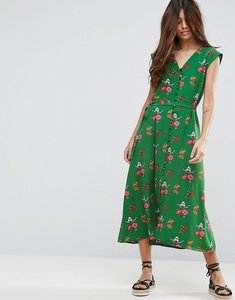 Read more about Asos midi tea dress in green ditsy floral - multi