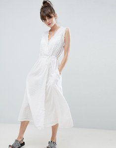 Read more about Leon and harper frill wrap midaxi dress - white