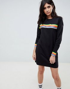 Read more about Noisy may rainbow stripe sweat dress