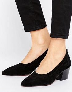 Read more about Asos sky high suede pointed heels - black