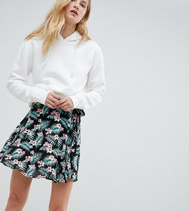 Read more about Glamorous tall floral wrap skirt - tropical floral