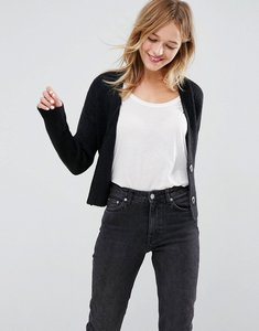 Read more about Asos chunky cardigan with belt - black