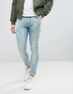 Read more about Asos super skinny jeans in 12 5oz light wash blue - light wash vintage