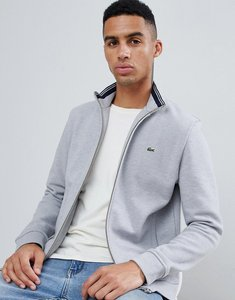 Read more about Lacoste zip through sweat in grey - grey