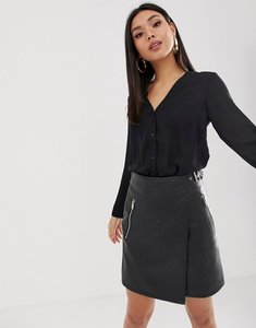Read more about Asos v neck blouse - black