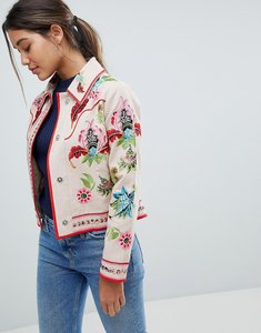 Read more about Asos embroidered canvas jacket - mink