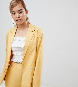 Read more about Fashion union petite tie waist blazer co-ord - gold