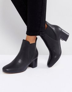 Read more about London rebel mid heel chelsea boots - blk pu