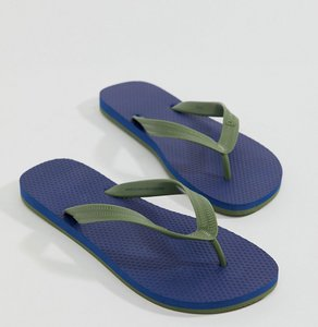 Read more about United colors of benetton flip flops in blue - 902