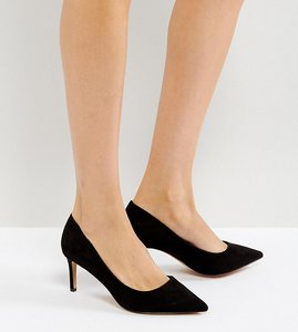 Read more about Asos soulful mid heels - black